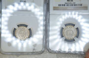 India-portuguese 1/4 Rupia 1947 1952 Ms66 Ngc Km25 Complete 2 Coin Set