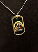 Obama Memorabilia15 Chain Dog Tag With Picture Of Barack Obama With Family A-1