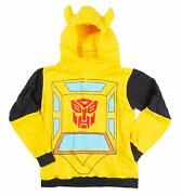 Transformers Bumblebee Officially Licensed Yellow Costume Hoodie