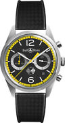 New Authentic Bell And Ross Vintage Limited Edition Brv126-rs40-st/srb Menand039s Watch