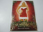 2013 Benchwarmer Happy Holidays Brandie Moses Gold Card And039d 17/20 Rare Ssp Model