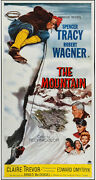 The Mountain Orig 1956 Large 3-sheet Movie Poster Spencer Tracy/robert Wagner