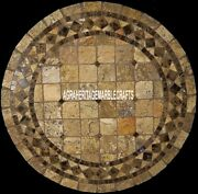 Vintage Marble Coffee Table Top Handmade Mosaic Inlay Home Furniture Decor H3957