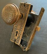 1908 Antique Door Knob And Mortise Set With Key