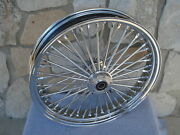 21x3.5 Fat 38 Spoke Dual Disc Front Wheel For 08-up Harley Flt Touring Baggers