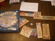Solid Wood Teasers 7 Different Brain Busters Game Cardinal 2001 Complete