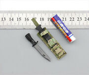 Easyandsimple Greenwolf Gwg009/011 1/6 Scale British Army Ksf Knife With Shelt