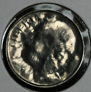 Nice Uncirculated Roosevelt Dime Capped Die Mint Error Coin - 1987