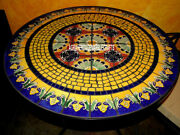 Marble Top Dining Round Table Stunning Inlay Design Furniture Garden Decor H3953