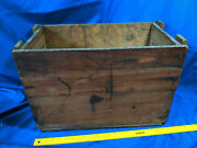 Antique General Electric Wood Crate Advertising Ge 2 5 Gallon Cans Vtg Trans Oil