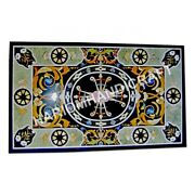 5and039x3and039 Marble Top Counter Table Mosaic Multi Pietra Dura Inlay Patio Decor E964d