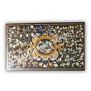5and039x3and039 Marble Dining Table Top Collectable Stone Marquetry Precious Inlay E1000b