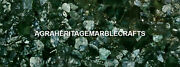 Marble Outdoor And Gardening Table Green Moss Agate Precious Stones Decor H5611