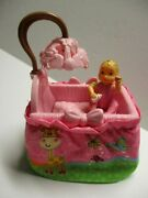 Fisher Price Sweet Sounds Loving Family Dollhouse Baby Doll And Nursery Crib Euc