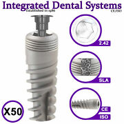 X50 Spiral Dental Implant Sterile And Ready To Use Iso/ce Internal Hexagon System