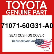 Toyota Genuine 7107160g31a0 Cover Front Seat Cushion Rhfor Separate Type