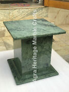 18x15 Green Marble Handmade Online Stand Base Home Furniture Decor E566