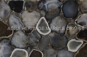 4and039x2and039 Marble Counter Height Table Top Wild Agate Stone Woth Led Light Decor E238