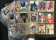 Nfl Football Autographed 25+ Cards And Photos Lot Nice Mix Of Teams And Players