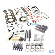 Piston And Gasket And Timing And Valve Kit 21mm Fit For Vw Golf Jetta Tiguan Audi 2.0t