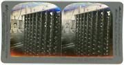 Stereo Keystone View Company Drawing In Warp Rear View Dallas Cotton Mills