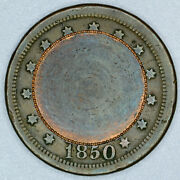 1850 Love Token Prep Coin On 1850 Large Cent Penny 1p 1c