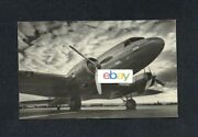 United Air Lines Douglas Dc-3 B/w Airline Issue Mainliner 1500 Miles Postcard