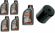 Bel Ray Synthetic Oil Change Kit And Black Filter 99-19 Harley Touring Softail