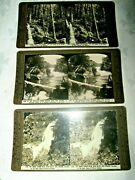 3 X Ass't Early 1900's The Rose Stereograph 3d Picture Cards Of New Zealand