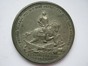 Russia 1708 Peter The Great Victory At Battle Of Lesnaya Medal 45mm White Metal