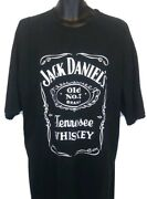 Authentic Vtg 2007 Jack Daniels Tennessee Whiskey Spell Out Black T Shirt 2xl