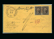 Us Stamp Used, Vf S36 Pair Not Tied On Cover To Liverpool England, 19 Credit Ma