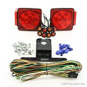 Led Submersible Square Light Kit Trailer 80- And 4 Red 4 Amber Side Marker Boat