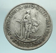 1932 South Africa Large George V Shields Genuine Silver Shilling Coin I79670