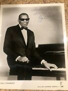 Signed Autograph Tay Charles