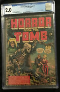 1954 Premier Group Horror From The Tomb 1 Cgc 2.0 Off White Pages