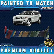 New Painted To Match - Upper Bumper Cover For 2014 2015 2016 Jeep Grand Cherokee