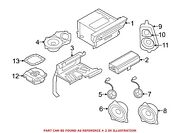 For Bmw Genuine Radio Amplifier Front 65126808527