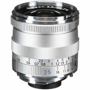 New Carl Zeiss Biogon T 25mm F2.8 Zm Wide Angle Lens Silver Leica M M9 M8.2