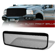 Fit 1999-2004 Ford F250/f350/f450 Front Bumper Black Abs Plastic Grill Grille