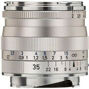 Brand New Carl Zeiss Biogon T 35mm F2 Zm Wide Angle Lens Silver Leica M M9 M10