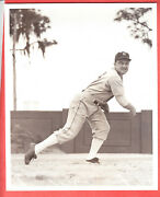 1937 Tigers 8 X 10 Glossy Team Issue Photo Boots Poffenberger Rookie