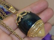 Imperial Collection By Tatiana Faberge Locket Enamel Egg Pendant Necklace W/tag