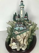 Lenox Lighthouse Collection Island Model 2000 Wooden Base Waves Seals Retired