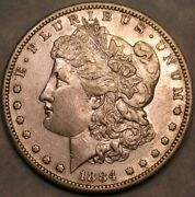 1884 S Morgan Silver Dollar Appealing Beautiful Feathers Very Scarce Toughr Date