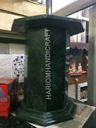 28h 15dia Green Marble Stand Table Top Base Room Interior Furniture E548b1