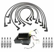 Ignition Wires Coil 8 Spark Plugs Kit Acdelco For Chevy P20 5.7l 1975 With Hei