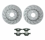 Genuine Front Brake Kit Drilled Disc Rotors And Pads For Bmw E82 E90 E92 E93 M3