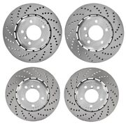 Genuine Front And Rear Drilled Vented Disc Brake Rotors Kit For Bmw F90 M5 2018-19