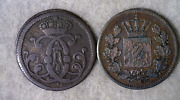 German States 2 Coins Cologne 4 Silber 1746 And Bavaria 2 Pf 1871 Stock 098